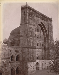 Main façade of the Jami Masjid, Jaunpur.